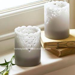 1343 decorativos florales velas perfumadas flores de encaje de cera de velas de los pilares de recorte