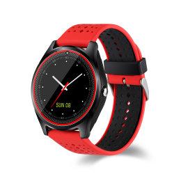 Спорт новый сенсорный экран Smartwatch моды Поддержка SIM-карты в формате MP3 Камеры V9 Smart смотреть