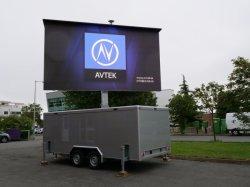 P10 подвижной реклама светодиодный дисплей для погрузчика, Trailler