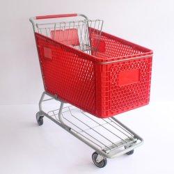 165 L novo estilo de plástico de supermercado Carrinho de Compras