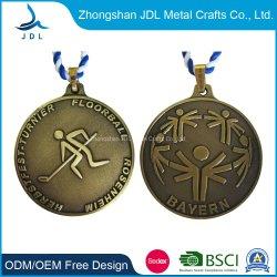 Medaglia Pendant personalizzata di ping-pong del metallo di promozioni con la medaglia stampata di softball del mestiere del metallo stampata autoadesivo per le promozioni della casella di presentazione di promozione (247)