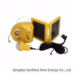 Etiópia Mercado/África do Sul Mercado Solar Portátil de longa durabilidade Lanterna Recarregável para iluminação interior e exterior