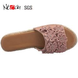 Fleur de PU sandale pour femme