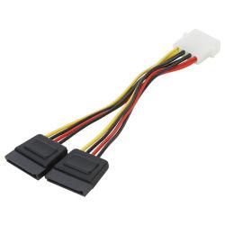 4 clavijas Molex macho a hembra de 2 x SATA Adaptador de Corriente y divisor de cable