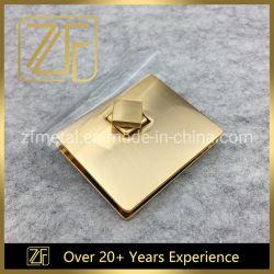 Het nieuwe Manier Geborstelde Gouden Veilige Slot van de Draai van het Metaal voor de Portefeuilles van de Handtassen van Zakken