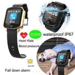 La haute GPS Tracking Smart montre téléphone avec la fréquence cardiaque D28W