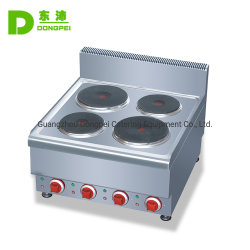 Compteur commercial Haut de page 4 Brûleur Plaque chauffante électrique cuisinière cuisinière