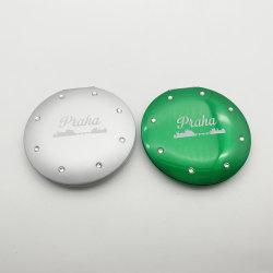 熱い販売デザイン金属の構成ミラー、美しい印刷のポケットミラー、女の子の錫ミラー