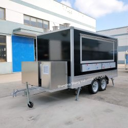 Silang quadratischer Imbiss-Kiosk, Hotdog-Karre mit Eiscreme-Maschine, mobiler Nahrungsmittel-LKW-Schlussteil
