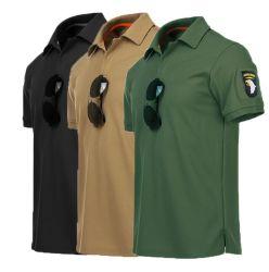 Mens-Sicherheitsbeamte-konstante Polizei-Arbeitskleidungs-Sicherheits-schützende Polo-Hemden mit Flausch-magischem Band