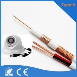 Kabel-Kommunikations-Video-Kabel des Überwachung-Kabel-Rg59+DC Rg59+Power
