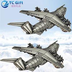 3D personalizadas profesional Malasia insignias de la Policía Militar del Ejército de la Artesanía de metal modelo de avión Prendedores Vestir Bullion gemelos recuerdo emblema LED