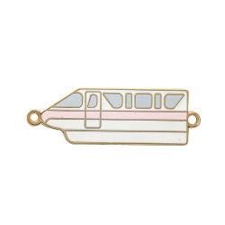 Graciosa Kunshan Gold Pino de esmalte de metal sem quantidade mínima para colar