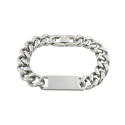 Le moulage Fashion crâne Bangle Bracelet en acier inoxydable