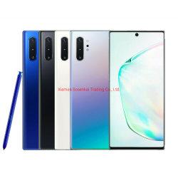 Venda por grosso de telefone móvel Original Samsungg Galaxyy Nota 10+ Plus Sm-N9750/DS 256 GB 12GB de RAM desbloqueado de Fábrica Celular duplo SIM Smartphone 4G
