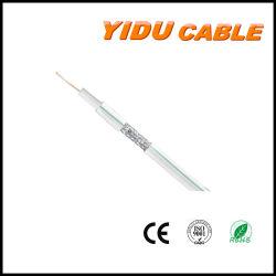 75 ohmios RG59 Kx6 Quad-Shield CATV / CCTV Cable coaxial de comunicación estándar doble