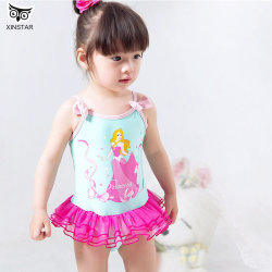 Klaar om op voorraad te verzenden Fast Dispatch Groothandel Cute Baby Zwempak meisjes One Piece Kids zwempak kleine meisjes Western Draag zwemkleding