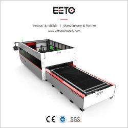 Unité complète machine au laser à fibre avec changeur automatique de la taille de lit et de Rotary 3000 Lit X1500 de vouloir couper jusqu'à 20 mm de plaques d'acier Puissance requise 1500 2000W