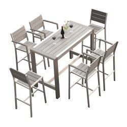 Café de style européen Wiredrawing Polywood Président Jeu de table en aluminium