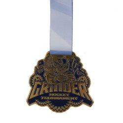달리는 디자인 주문 마라톤을 해방해 리본을%s 가진 스포츠 게임 2D/3D 금 금속 메달을 경주한