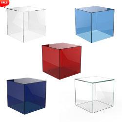 Cube en acrylique couleur Présentoir 5 faces carrées case Bac Perspex magasin de détail titulaire Lucite Boîte d'affichage