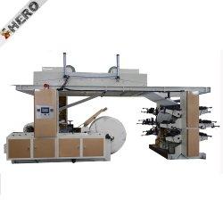 英雄のブランドGyt6-1500 1から4カラーラベルのFlexoの印字機、多色刷りのFlexoの印刷機、名刺のオフセット印刷の機械装置