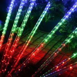 Pluie de météores à LED étanche extérieur luminaires suspendus de vacances des arbres de Noël