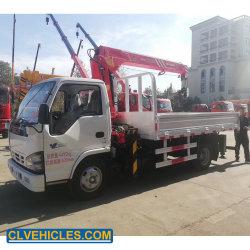 Isuzu شاحنة رافعة محمولة للماكينات الإنشائية بقدرة 4 أطنان