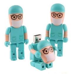Доктор Пластиковые формы медсестры флэш-накопитель USB для больницы подарки