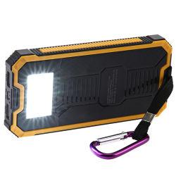 Carregador de telefone portátil Cargador Bateria Banco de energia solar para Smartphones Powerbank Externo Caixa de Energia Móvel
