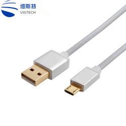 Небольшой экранированный кабель USB 2.0 с высокой скоростью передачи данных для мобильных ПК зарядки аккумулятора кабель micro-USB