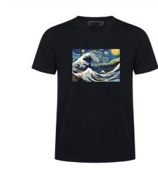 Lustige Shirt-Mann-Sommer-Kurzschluss-Hülsen-beiläufige Hemd-Baumwollbequemer runder Stutzen kleidet Sport-Eignung-Form-Hemden
