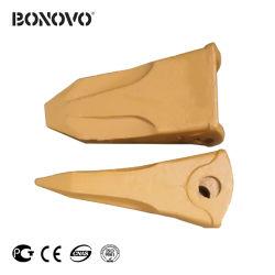 Bonovo Xd450 Xd455の掘削機のバケツの歯の歯の先端は掘削機の坑夫のためのTrackhoe釘の釘のアダプター61e7-0101をひっくり返す