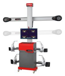 Alineación de ruedas de coche en 3D la máquina, el alineador de ruedas