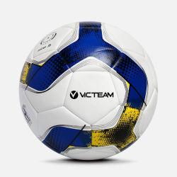Kundenspezifische Team-Sport PU-lederne materielle Fußball