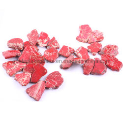 Losas de elegante color negro rojo púrpura impresión Jasper piedras preciosas perlas sueltas para la fabricación de joyas