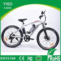 セリウム250W電気アルミニウムフレームElectric+Bicycleのディスクブレーキブラシレスモーター7速度のマウンテンバイク