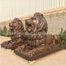 屋外の庭の青銅のライオンの彫刻(GSBR-295)