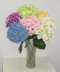 Bouquet de fleurs artificielles colorés Hydrangea pour décoration intérieure