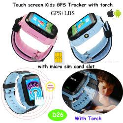 Smart GPS tracker montre téléphone GPRS avec positionnement en temps réel D26