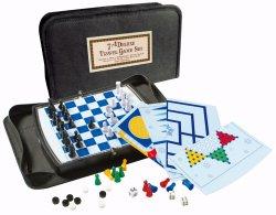 7 en 1 juegos de juego de tablero de juego de viaje