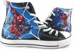 Spiderman Shoes, peint/toile peinte/haut haut chaussures occasionnel