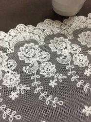 Französisches Art-Nylon und Polyester-Ineinander greifen-Spitze-Zutat für Dame Garment