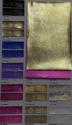 La coutume en cuir synthétique vinyle PVC brillant de Fancy PU Cuir stock pour le Portefeuille sac à main sac à main CAS