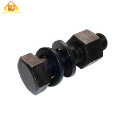 La oxidación de color negro nuevo diseño de tornillo y tuercas hexagonales
