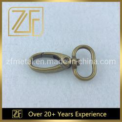 Bolsa de Metales de bronce antiguo perro Gancho giratorio de primavera en el bolso de Hardware de broche