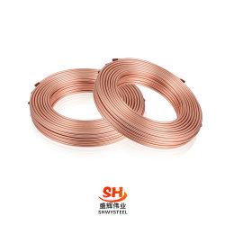 Climatisation cuivre tube ondulé, de crêpes de bobines de cuivre