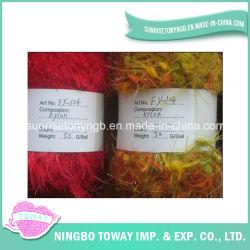 Partie Souple Feather Brillante Polyester Nylon Fancy Knittng Yarn