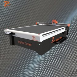 Oscillerende/Trillings Ronde CNC van de Vezel van de Koolstof van de Pakking van de Doek van het Mes Scherpe Machine Jinan Zhuoxing