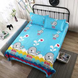 Los fabricantes al por mayor precio 100%Poliéster Flor de terciopelo de seda de impresión de conjunto de ropa de cama colchas de lana